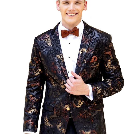 Ryan Ombre Floral tuxedo jacket by Mark of Distinction